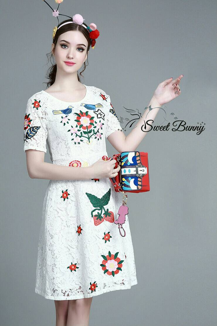 Sweet Bunny Present... Acoustic embroidery lace dress