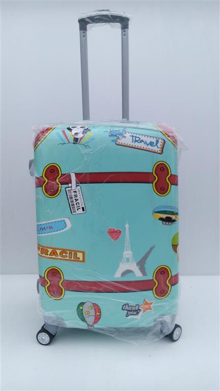 กระเป๋าเดินทาง ขนาด 24 นิ้ว ลายเข็มขัดเขียว