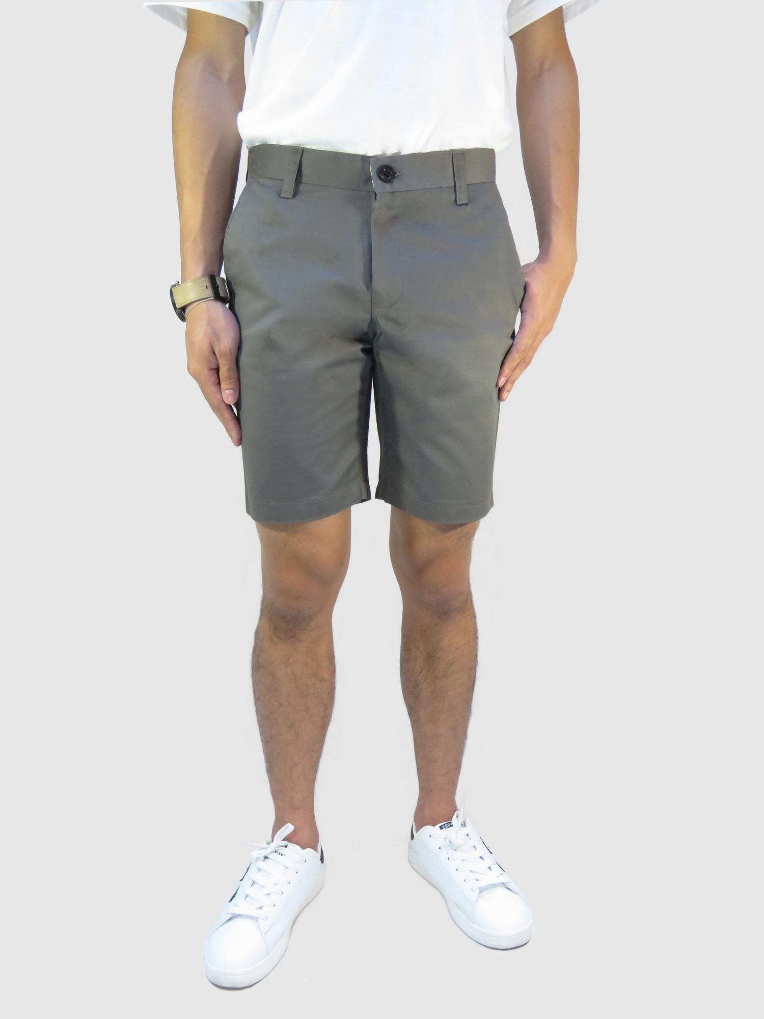 กางเกงขาสั้นชาย สีเทาเข้ม