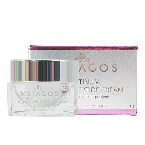 Proyou Metacos Platinum Wrinkle Peptide Cream 11g (ครีมบำรุงผิวหน้า ที่มีคุณสมบัติในการแก้ปัญหาริ้วรอยโดยเฉพาะ)