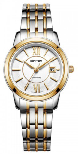 นาฬิกาผู้หญิง Rhythm รุ่น G1304S03, Sapphire General Collection Dual Tone G1304S 03, G1304S-03