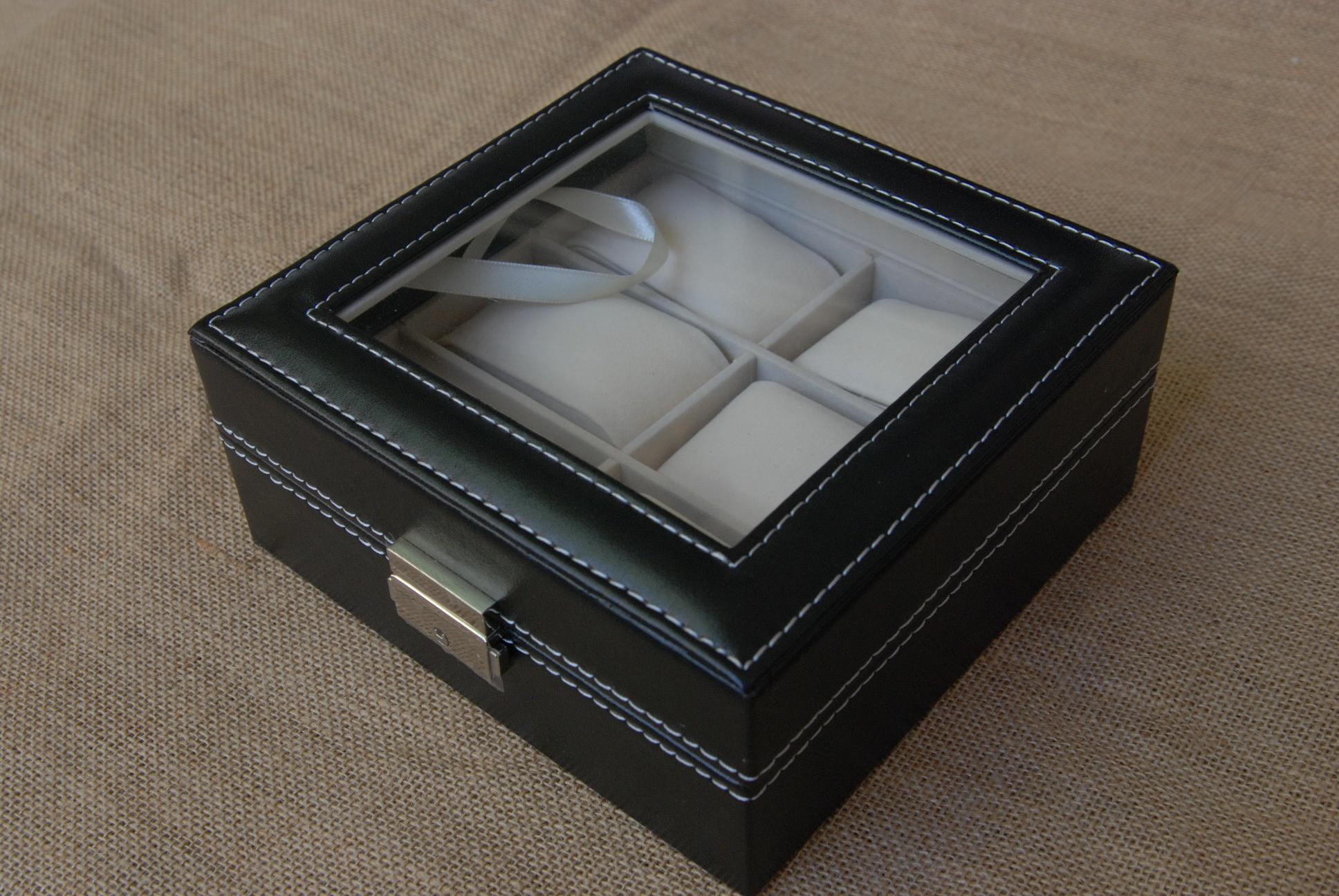 กล่องหนังเก็บนาฬิกา 6เรือน กุญแจล็อค