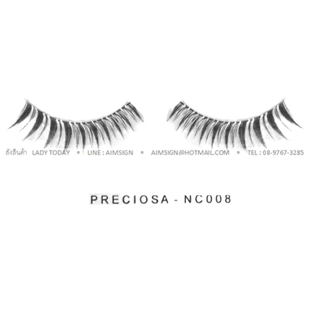 PRECIOSA EYELASH รุ่น NATURAL CLEAR (NC008)