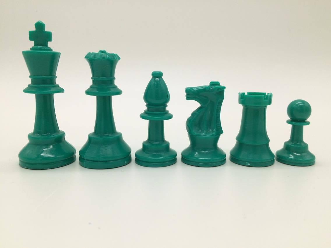 "3"" Colored Plastic Chess Piece"