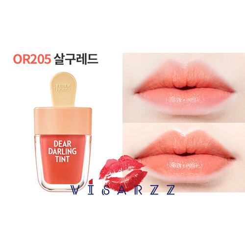 (# OR205) Etude Dear Darling Tint Ice Cream 4.5g # OR205 Apricot Red ทิ้นเนื้อเจลแพคเกจไอติมน่ารักมากๆ ให้สีสันสดใส ติดทนนาน พร้อมบำรุงริมฝีปากให้ชุ่มชื้น