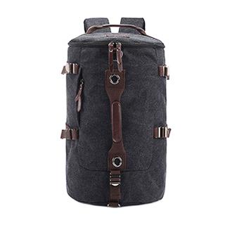 TR01 กระเป๋าทรงกระบอกใหญ่ แคนวาส สีดำ