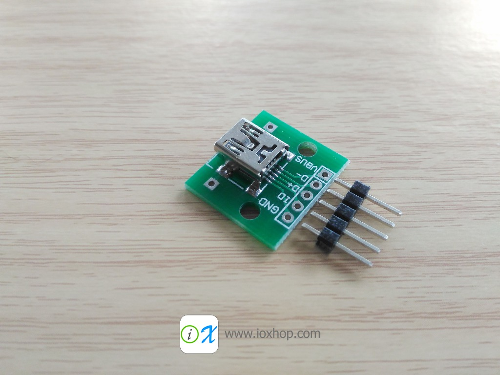 Mini USB Female Breakout