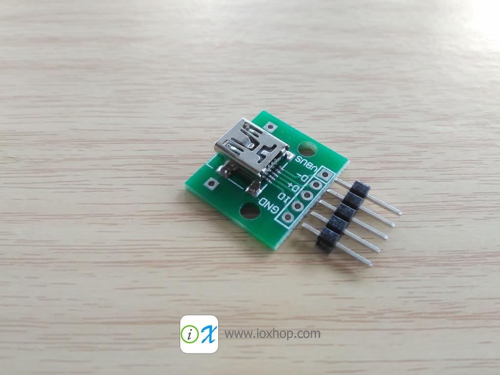Mini USB Female Breakout