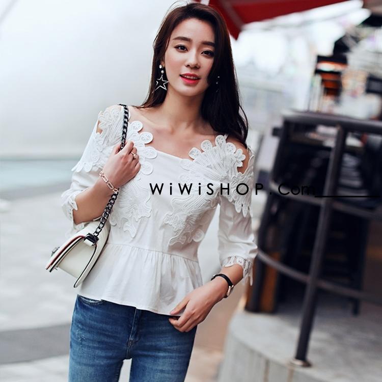 เสื้อลูกไม้สีขาว สวยๆ เรียบหรู น่ารักๆ