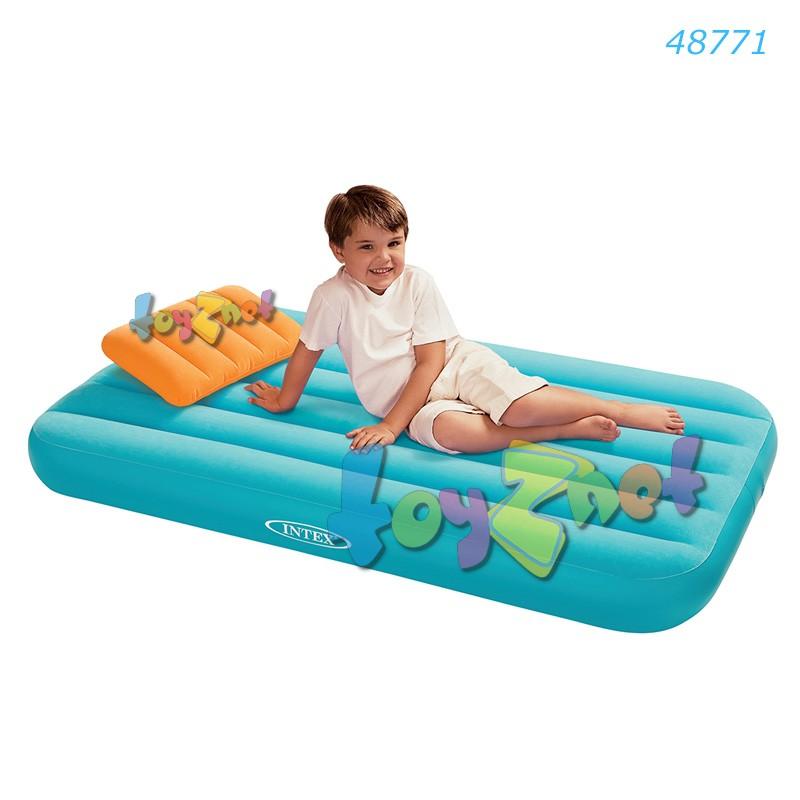 Intex ที่นอนเป่าลมคุณหนูโคซี่คิดซ์ สีฟ้า รุ่น 48771