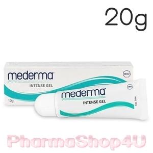 Mederma Intense Gel 20g มีเดอร์ม่า เจลลบรอยแผลเป็น ชนิดนูนและคีลอยด์ที่ได้จากการผ่าตัด อุบัติเหตุไฟไหม้ น้ำร้อนลวก หลุมสิว