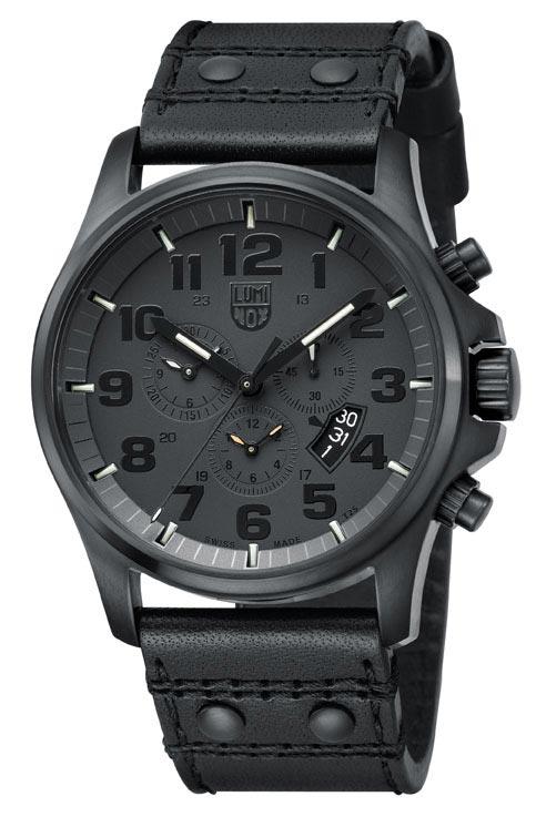 นาฬิกา Luminox รุ่น LUMINOX 1881.BO Men's Black Leather Swiss Quartz Watch with Black Dial