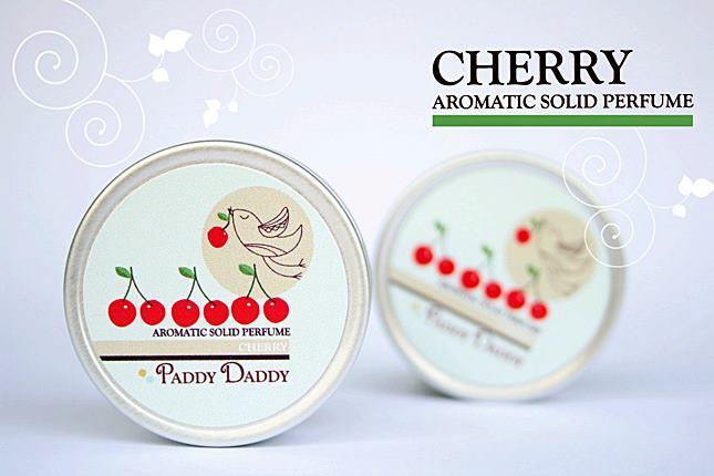 Aromatic Solid Perfume Cherry น้ำหอมแห้งเนื้อบาล์ม แพดดี้แดดดี้ กลิ่นเชอรี่ (กลิ่นคล้ายน้ำหอม Miss Dior Cherie)