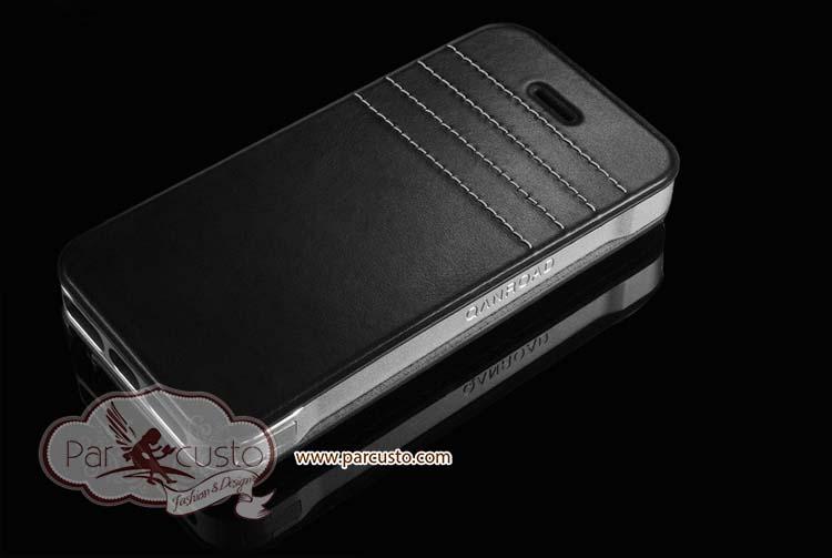 เคสอลูมิเนียม+หนังวัวแท้ Apple iPhone 5s จาก QANROAD [Pre-order]