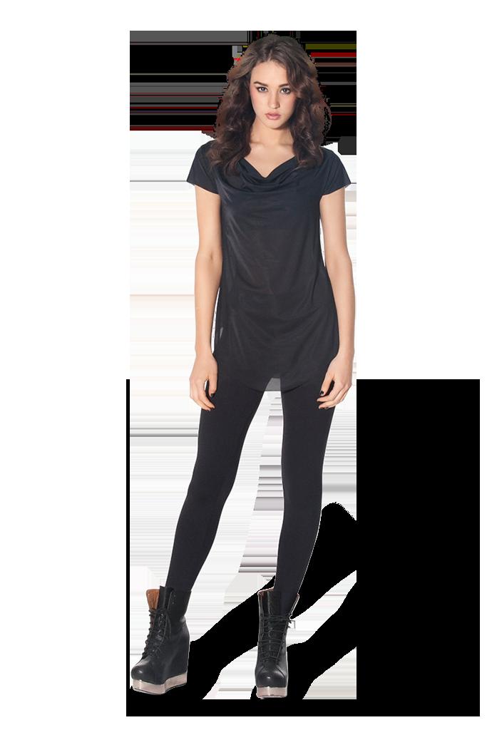 (SALE) กางเกงแฟชั่น ทรงสกินนี่ สีดำ