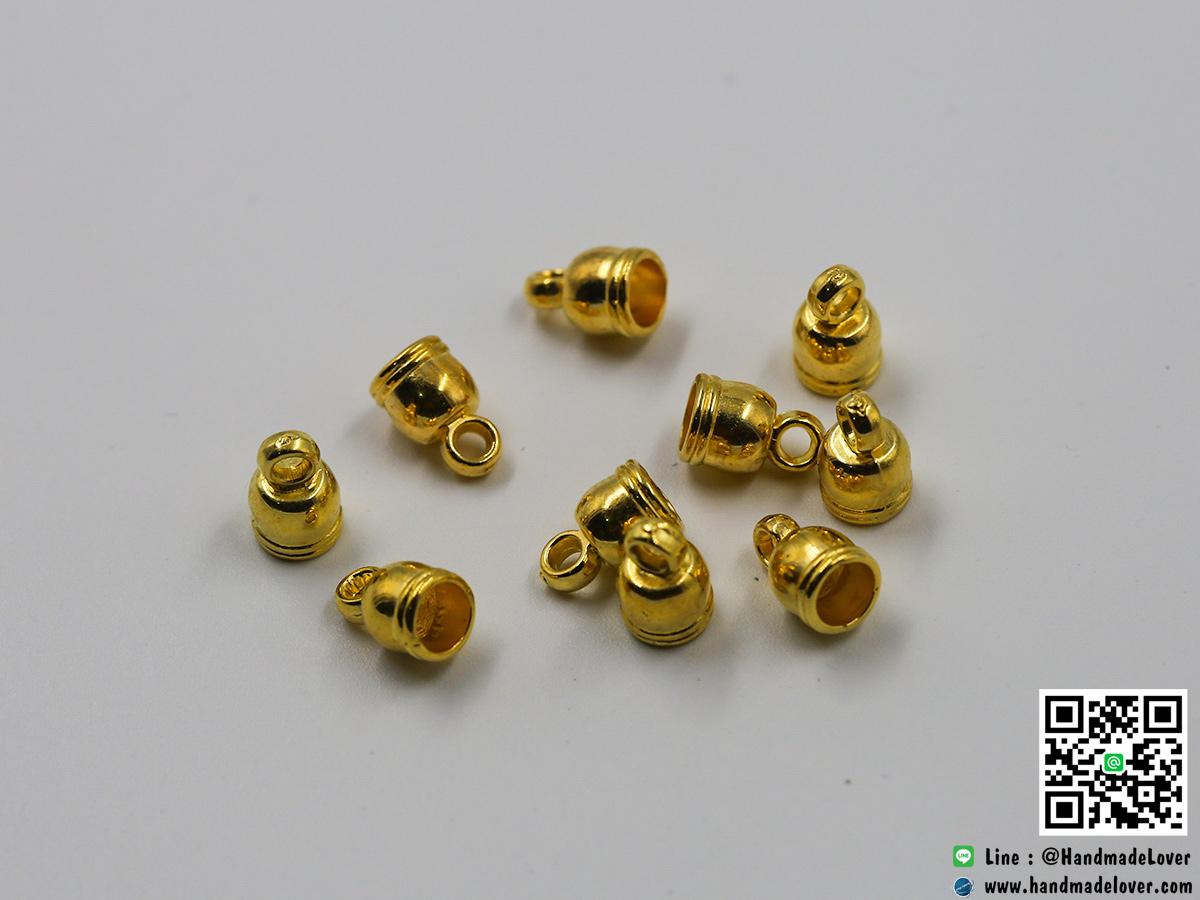 ตัวครอบ สีทอง แบบโดม ขนาด 5*9 มม.