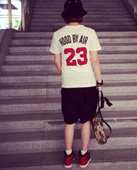 (SALE) เสื้อยืดแฟชั่น No.23 สีขาว
