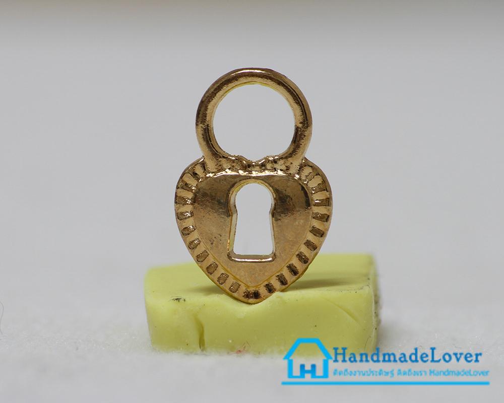 จี้,ตัวห้อยซิป สีทอง รูปแม่กุญแจ