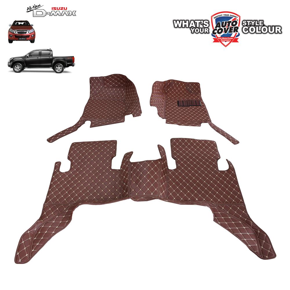 พรมเข้ารูป 6 D Leather Car Mat จำนวน 3 ชิ้น ISUZU ALL NEW DMAX 4 DOOR 2013-2018