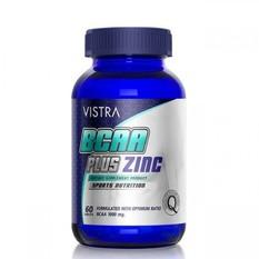 Vistra BCAA Plus Zinc Sport Nutrition บรรจุ 60 แคปซูล [ขวดน้ำเงิน]