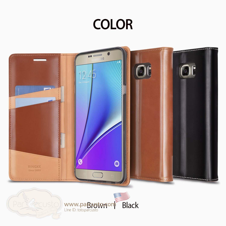 เคสหนังแท้ Samsung Galaxy Note 5 [SIGNATURE] จาก Ringke [Pre-order USA]