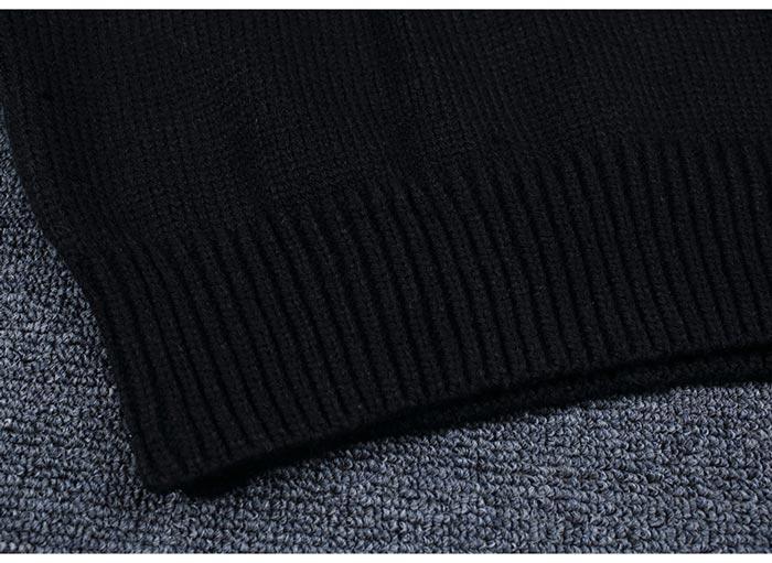เสื้อไหมพรมแฟชั่นกันหนาว เสื้อสเวตเตอร์ สีกากี คอกลม แขนยาว ดีไซน์ลายกราฟิก เท่ๆ