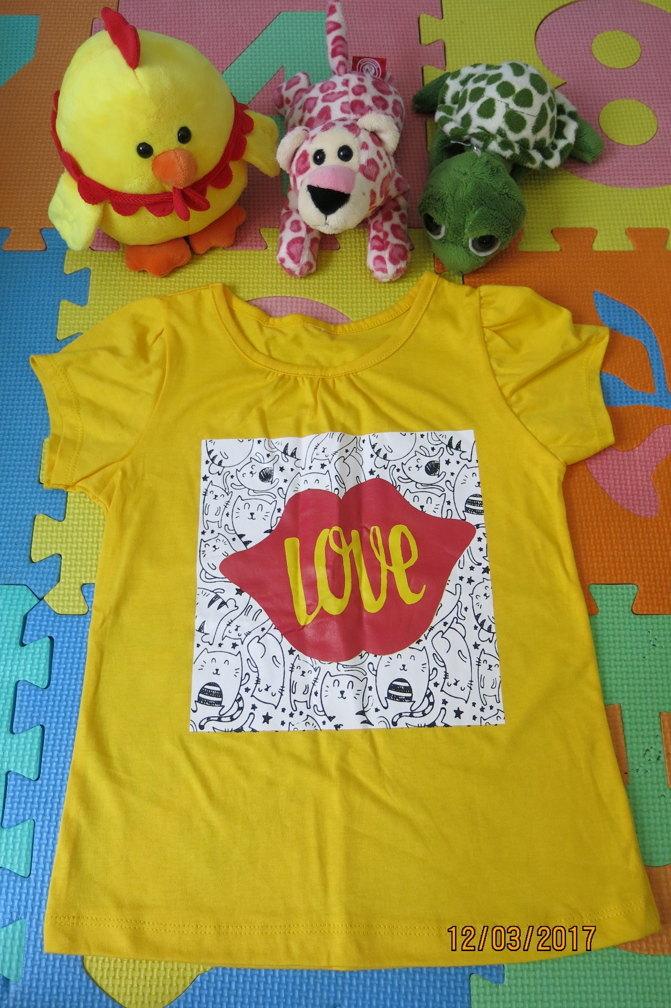 เสื้อเด็ก D11 (3-4 ขวบ) สีเหลือง