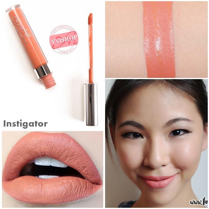 Colourpop Ultra Matte Lip #Instigator : mid-tone peachy nude ส้มพีชเจือน้ำตาล
