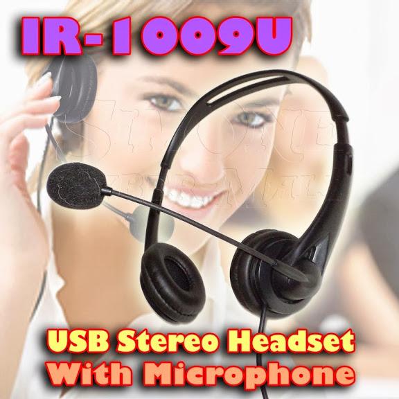IR-1009U - USB Stereo Headset With Microphone