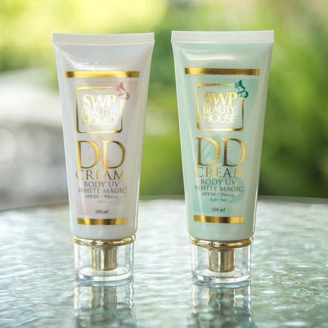 SWP Beauty House DD Cream Body UV White Magic 100g ดีดี ครีม น้ำแตก ขาววิ้งออร่า ท้าแดด ผิวขาว