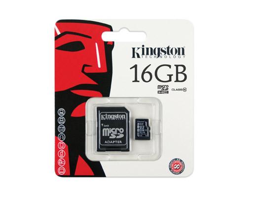 Micro SD Kington 16GB Class10