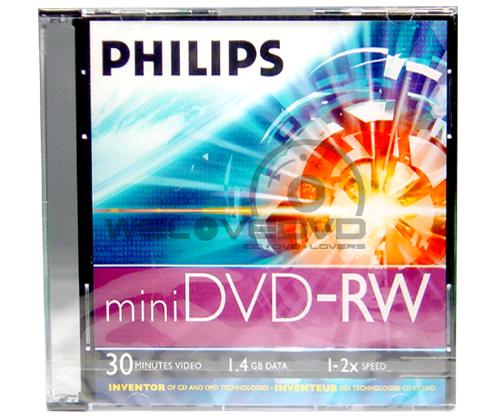 Philips Mini DVD-RW 4X (1 pcs/Jewel Case)