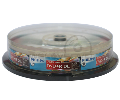Philips DVD+R DL 8X (10 pcs/Cake Box)