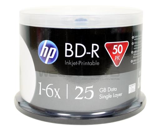 HP BD-R 6X 25GB Printable (50 pcs/Cake Box)