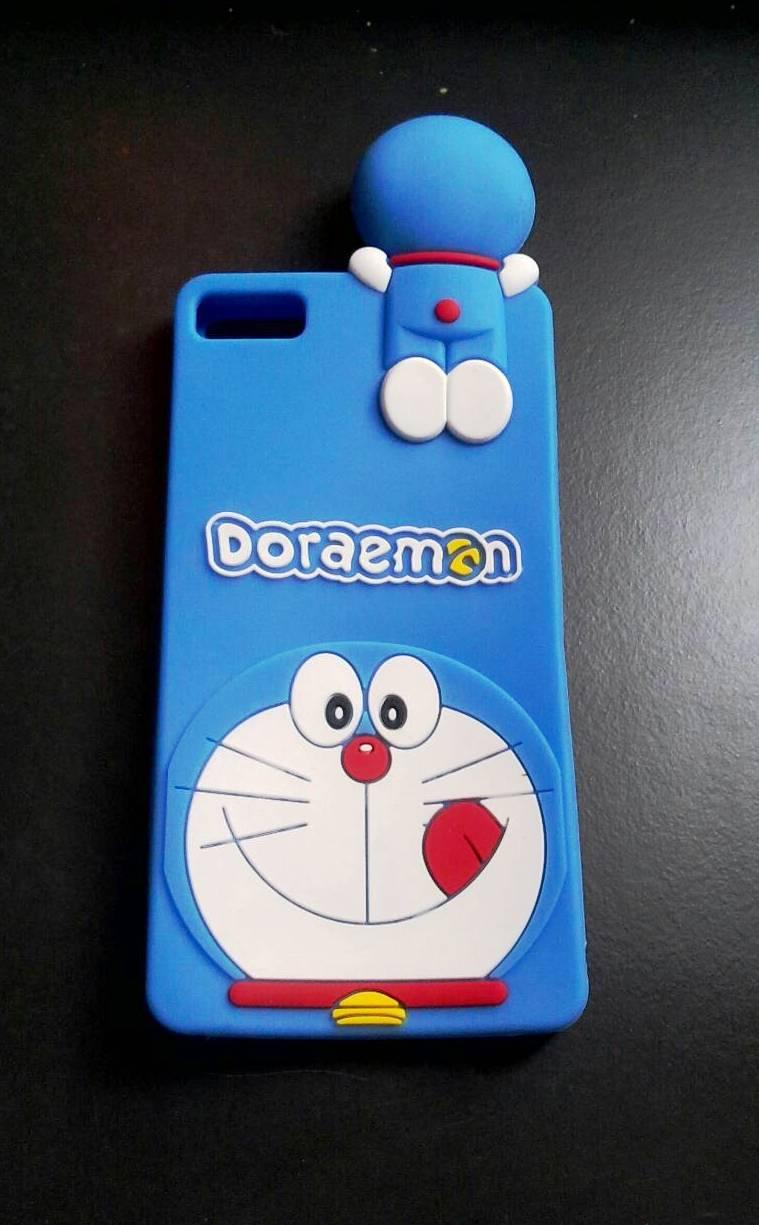 ซิลิโคนลายแมวสีฟ้าเกาะหลัง Huawei P8 lite