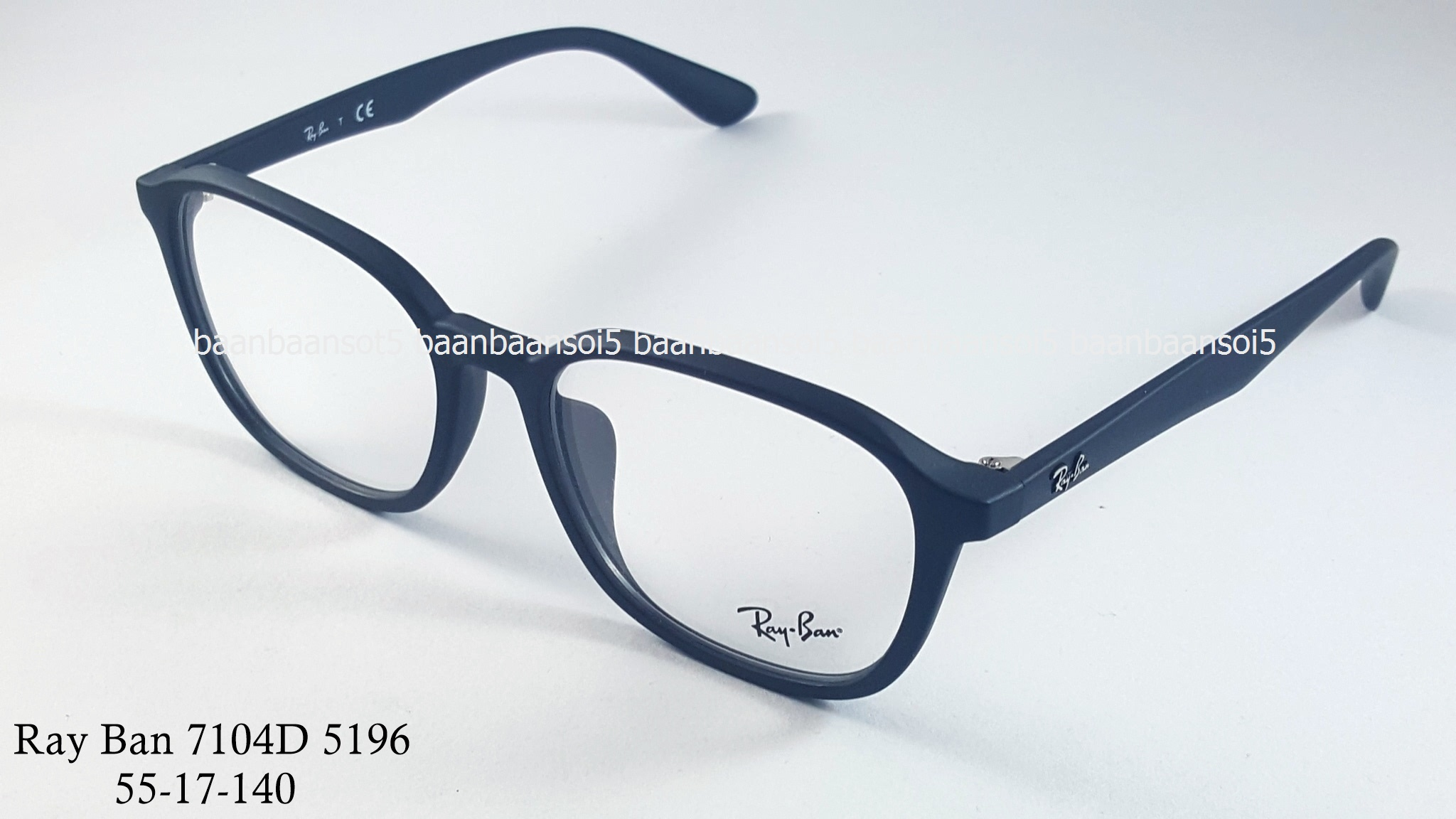 Rayban RX 7104D 5196 โปรโมชั่น กรอบแว่นตาพร้อมเลนส์ HOYA ราคา 2,900 บาท