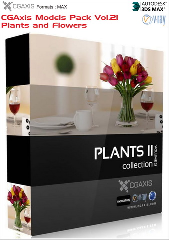 CGAxis Models Pack Vol 21 Plants and Flowers
