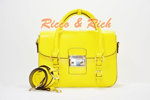 กระเป๋าหนังแท้ Julie - Yellow