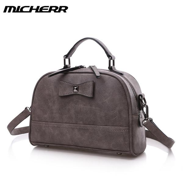 พร้อมส่งกระเป๋าถือและสะพายแฟชั่นเกาหลี ยี่ห้อ MICHERR แท้ รหัส AL-8822 สีเทา