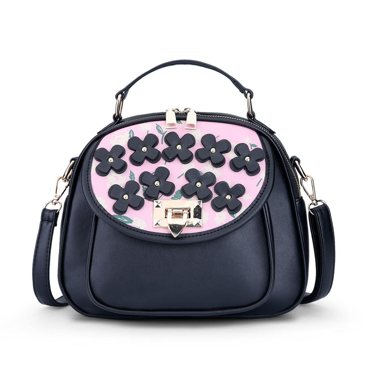 ขายส่ง กระเป๋าสะพายไหล่และกระเป๋าถือ เรียบง่าย แฟชั่นเกาหลี Sunny-915 สีชมพู