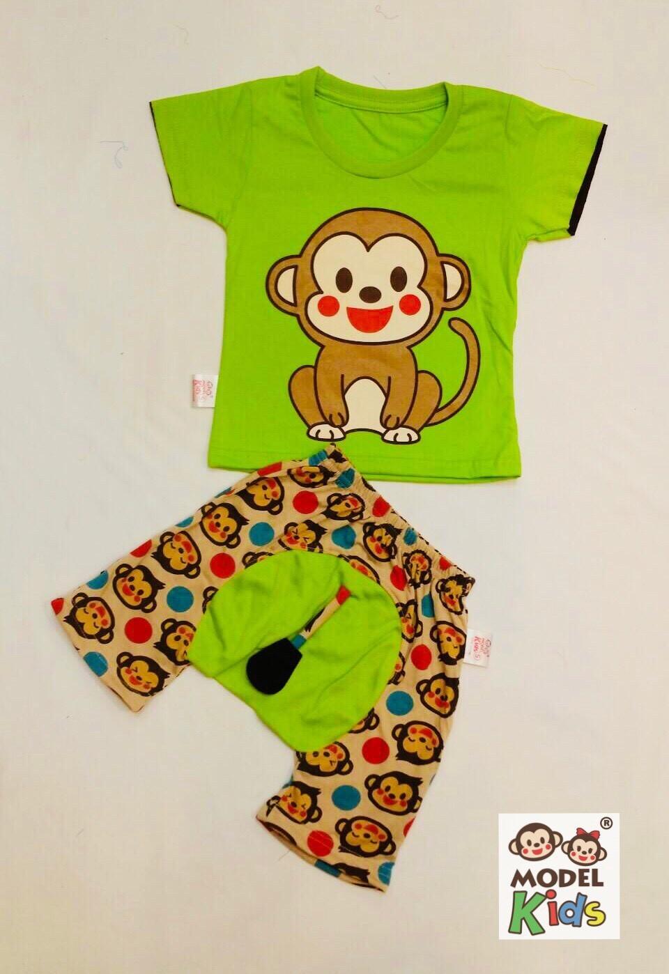 ชุดลิงน้อยเขียวอ่อน