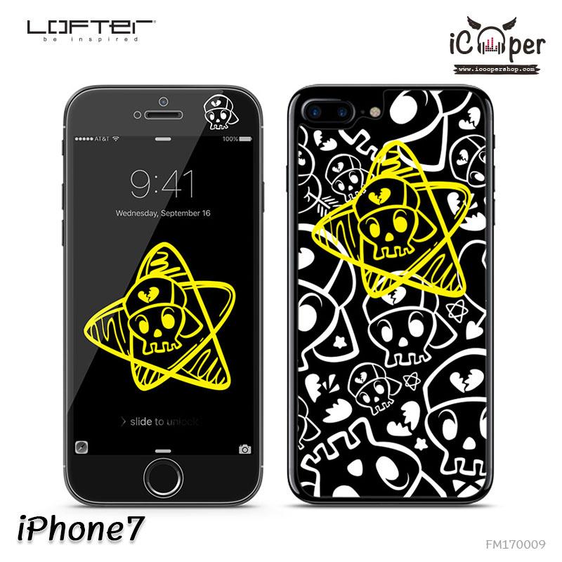 LOFTER Full Cover Glass - Skull (iPhone7)