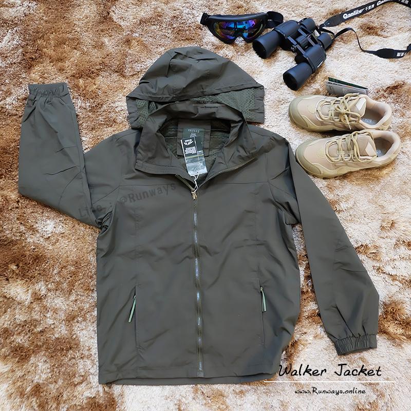 WALKER JACKET เสื้อแจ็คเก็ตกันลม กันน้ำ กันแดด : สีเขียว