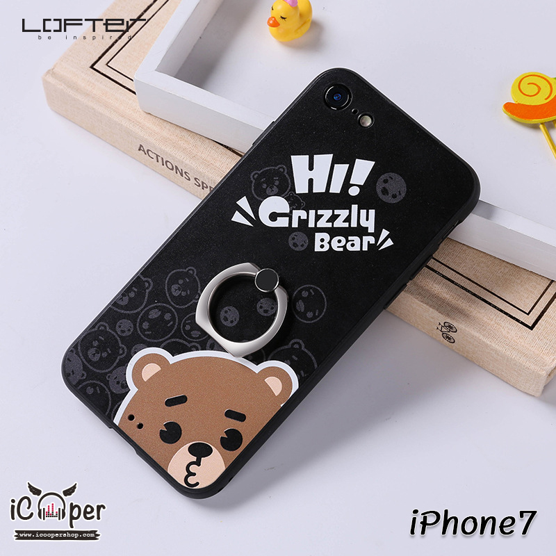 LOFTER iRing Cartoon Case #2 - Bear (iPhone7)