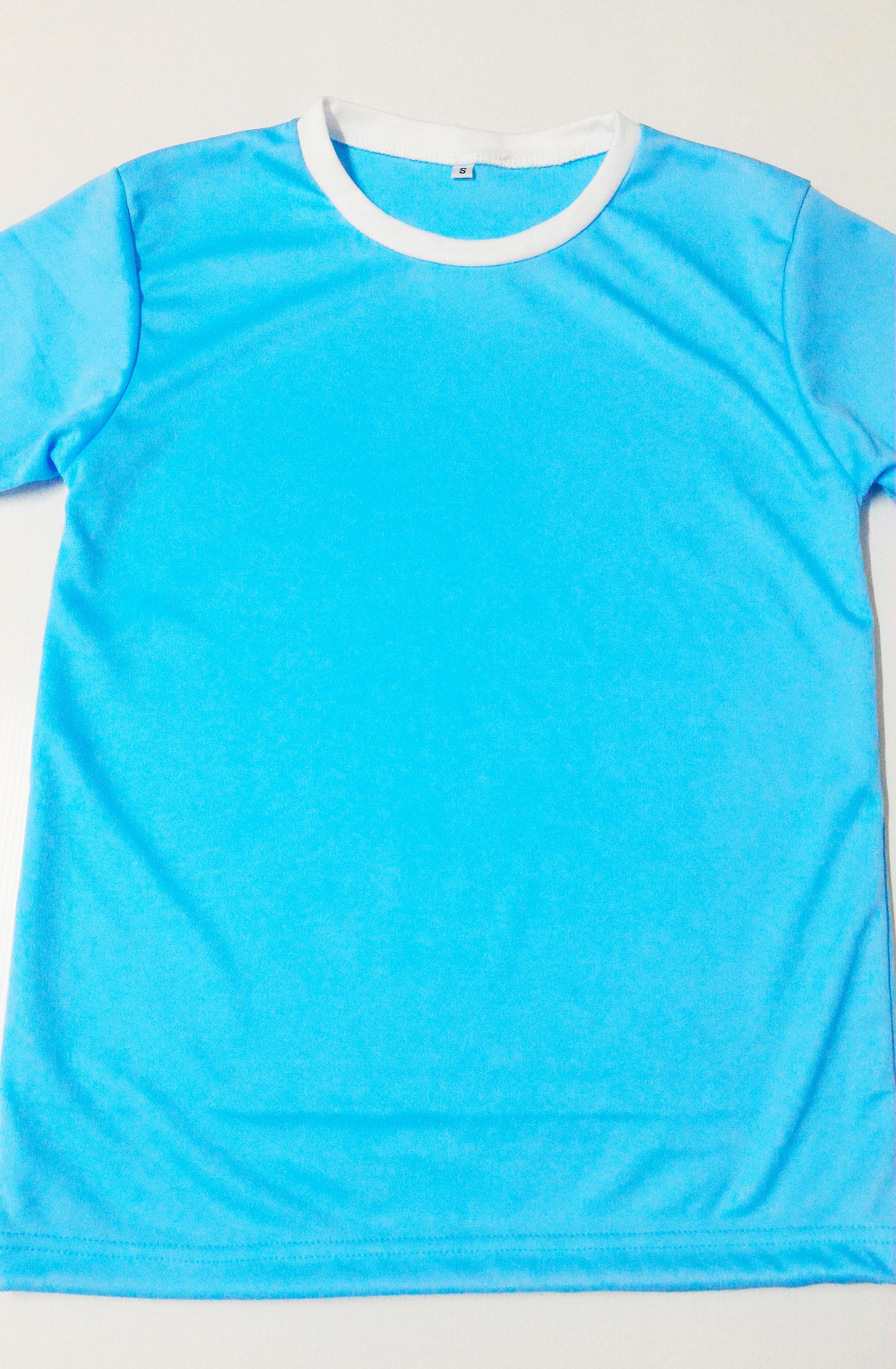 ขายส่ง ไซส์ S รอบอก 32 นิ้ว เสื้อกีฬาสีฟ้าอ่อน เสื้อกีฬาเปล่าผู้ใหญ่ เสื้อเปล่า