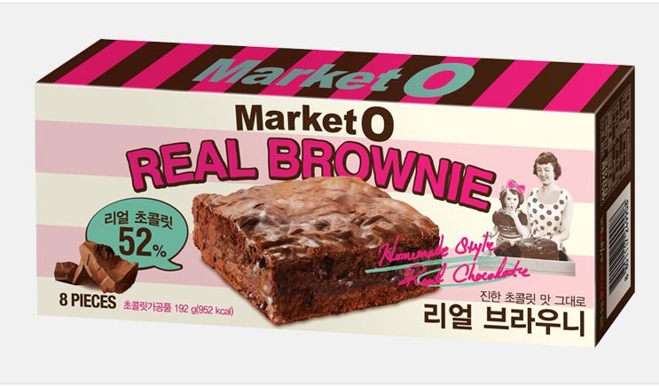 Market O Real Brownie ขนมเค้กบราวนี่ ขนมเกาหลี ขนาด 192 กรัม แพค 3 กล่อง