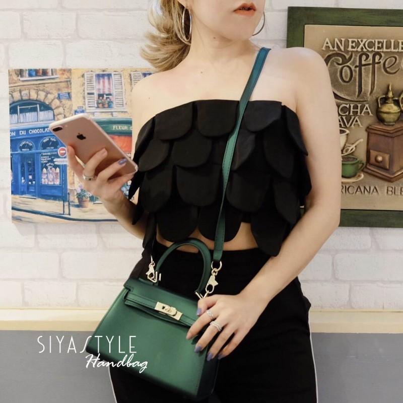 กระเป๋าสะพายแฟชั่น กระเป๋าสะพายข้างผู้หญิง Kelly Toy [สีเขียว]