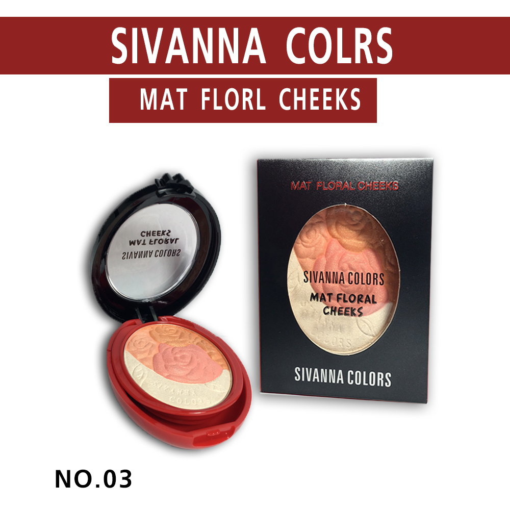 บลัชออน SIVANNA COLURS MatFloralCheeks (No.03)