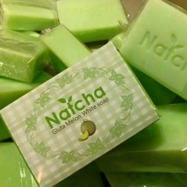 สบู่ Natcha Gluta Melon White soap