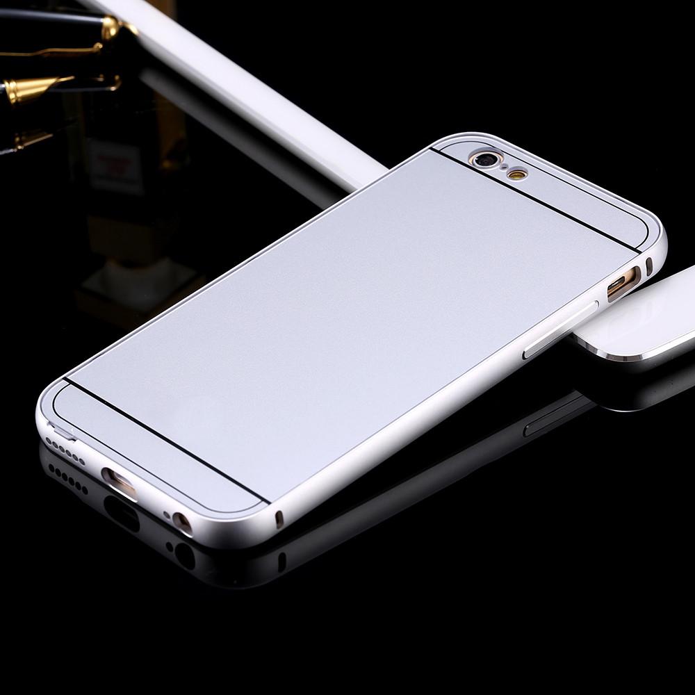 เคส iPhone 5/5s อลูมิเนียม+อะคริลิค ฝาหลัง (สีเงิน)